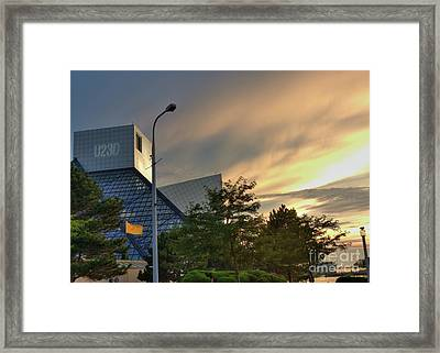 Rock And Roll Hall Of Fame Framed Print by David Bearden