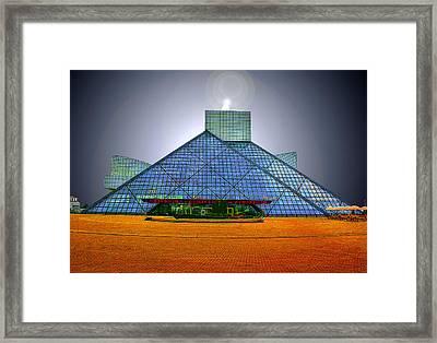 Rock And Roll Hall Of Fame Framed Print by Kenneth Krolikowski