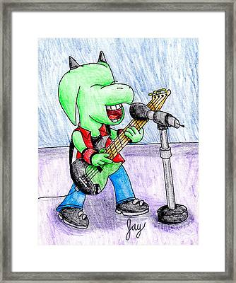 Jett The Alien Bassist Framed Print