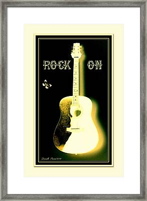 Rock On Guitar Framed Print by Danielle  Parent