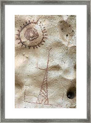 Rock Painting, Timor-leste Framed Print by Louise Murray
