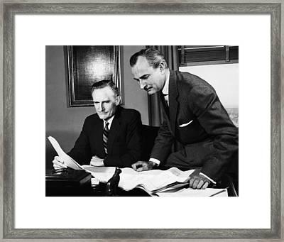 Rockefeller Family.  Philanthropist Framed Print by Everett