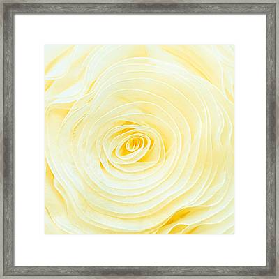 Rolled Fabric Framed Print
