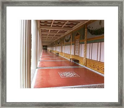 Roman Garden Walkway Framed Print by Paul Washington