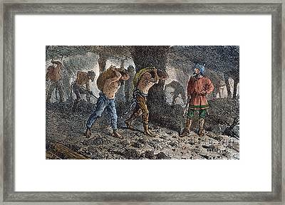 Roman Slavery: Coal Mine Framed Print by Granger