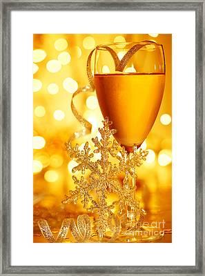 Romantic Holiday Celebration Framed Print by Anna Om