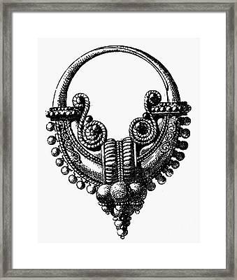 Rome: Gold Earring Framed Print