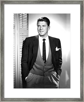 Ronald Reagan In The 1950s Framed Print by Everett