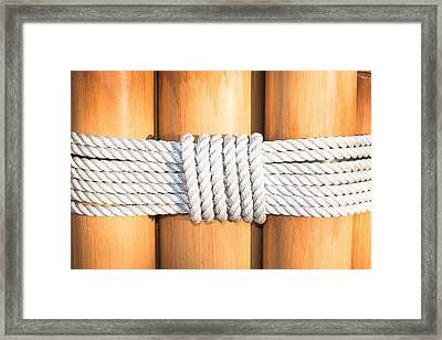 Rope Framed Print by Tom Gowanlock