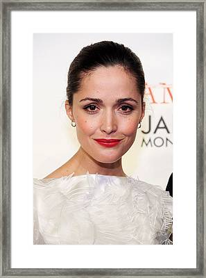 Rose Byrne At Arrivals For Damages Framed Print by Everett
