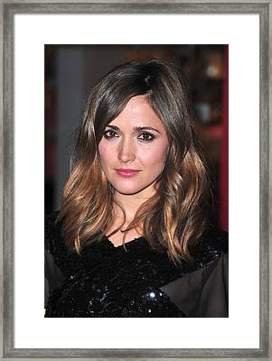 Rose Byrne At Arrivals For The Museum Framed Print
