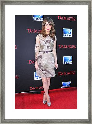 Rose Byrne Wearing A Valentino Dress Framed Print