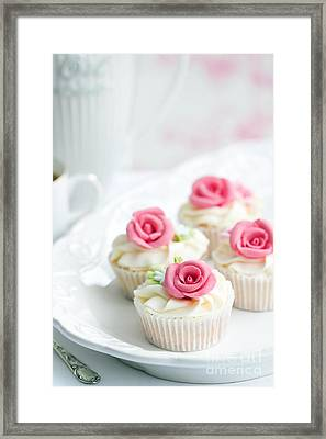 Rose Cupcakes Framed Print by Ruth Black