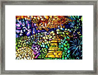 Rose Path Framed Print by Giuliano Cavallo