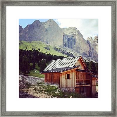 Rosengarten - Dolomites Framed Print