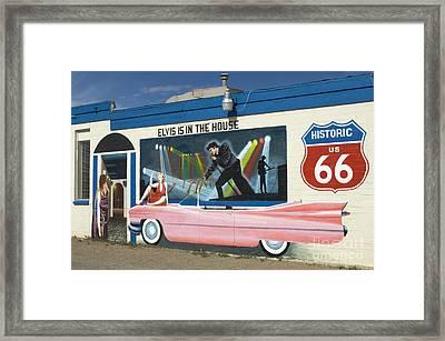 Route 66 Elvis Framed Print by Bob Christopher