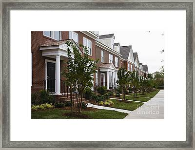 Rows Of New Townhomes Framed Print