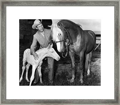 Roy Rogers 1911-1998, American Actor Framed Print by Everett