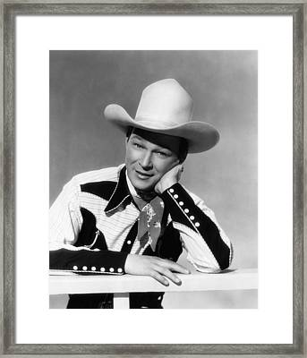 Roy Rogers, Ca. 1940s Framed Print