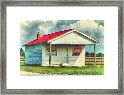 Framed Print featuring the painting Royster Fertilizers  by Lynne Jenkins