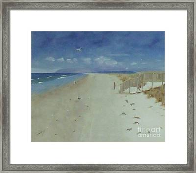 Ruakaka Beach Framed Print by Debra Piro