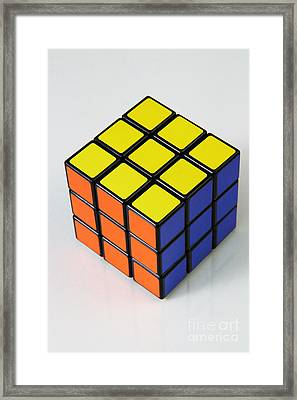 Rubiks Cube Framed Print by Photo Researchers, Inc.