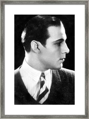 Rudolph Valentino, 1920s Framed Print