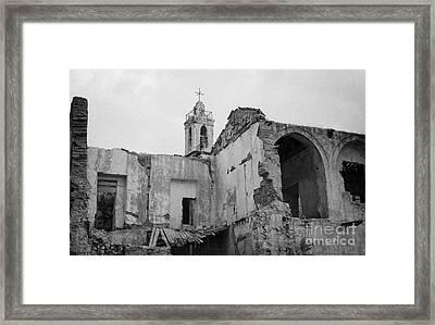 Ruins In The Grounds Of The Armenian Church And Monastery Of Notre Dame De Tyre Nicosia  Framed Print by Joe Fox