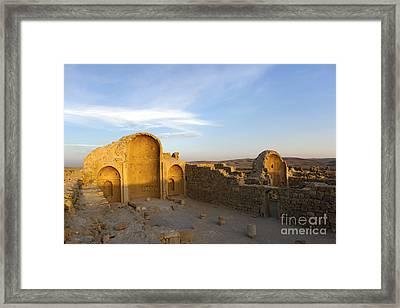 Ruins Of Shivta Byzantine Church Framed Print by Nir Ben-Yosef