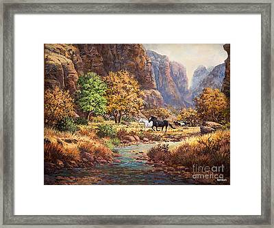Running With The Wind Framed Print by W  Scott Fenton