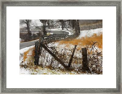 Rural Route Framed Print by Ron Jones