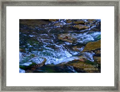 Rushing Water Framed Print by Royce  Gideon