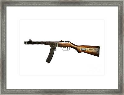 Russian Ppsh-41 Submachine Gun Framed Print by Andrew Chittock