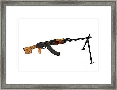 Russian Rpk 7.62mm Light Machine Gun Framed Print