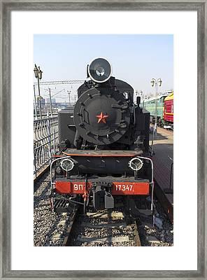 Russian Steam Locomotive 9p-17347 Framed Print by Igor Sinitsyn
