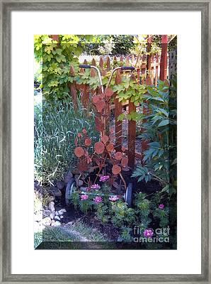 Rusty Rose Framed Print by JP Giarde