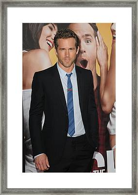 Ryan Reynolds At Arrivals For The Framed Print by Everett