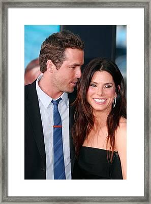 Ryan Reynolds, Sandra Bullock Framed Print by Everett