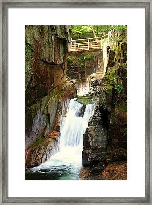 Sabbaday Falls Framed Print by David Gilman