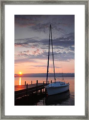 Sailboat And Lake II Framed Print by Steven Ainsworth