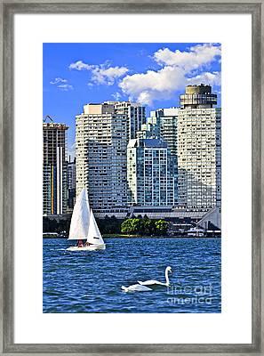 Sailing In Toronto Harbor Framed Print by Elena Elisseeva