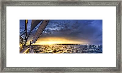 Sailing Sunset Charleston Sc Framed Print by Dustin K Ryan