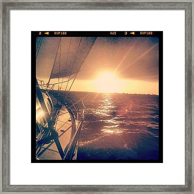 Sailing Sunset Framed Print