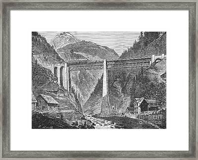 Saint Gotthard Tunnel Framed Print by Granger