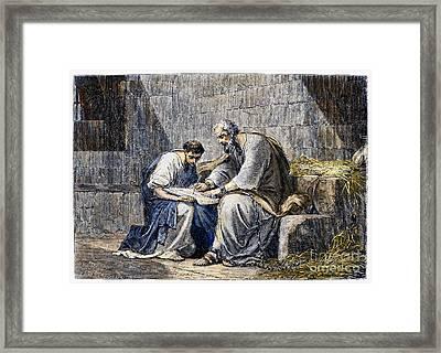 Saint Paul In Prison Framed Print by Granger