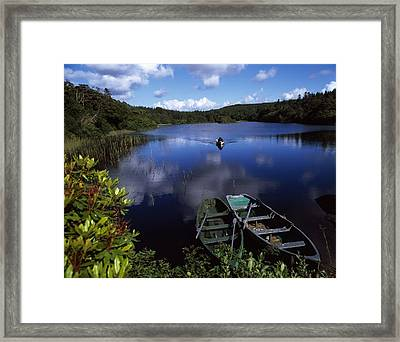 Salmon Fishing, Ballinahinch Framed Print
