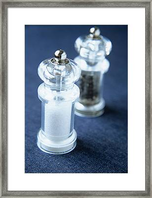 Salt And Pepper Framed Print by Veronique Leplat