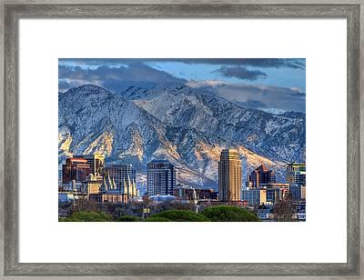Salt Lake City Utah Usa Framed Print by Utah Images