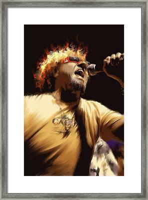 Sammy Hagar Framed Print by Lance  Kelly