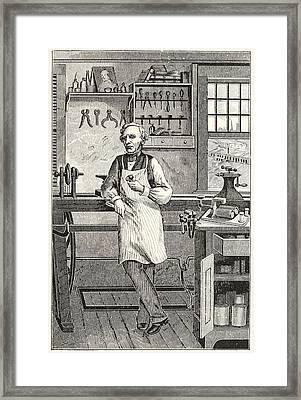 Samuel F. B. Morse 1791-1872, Inventor Framed Print by Everett